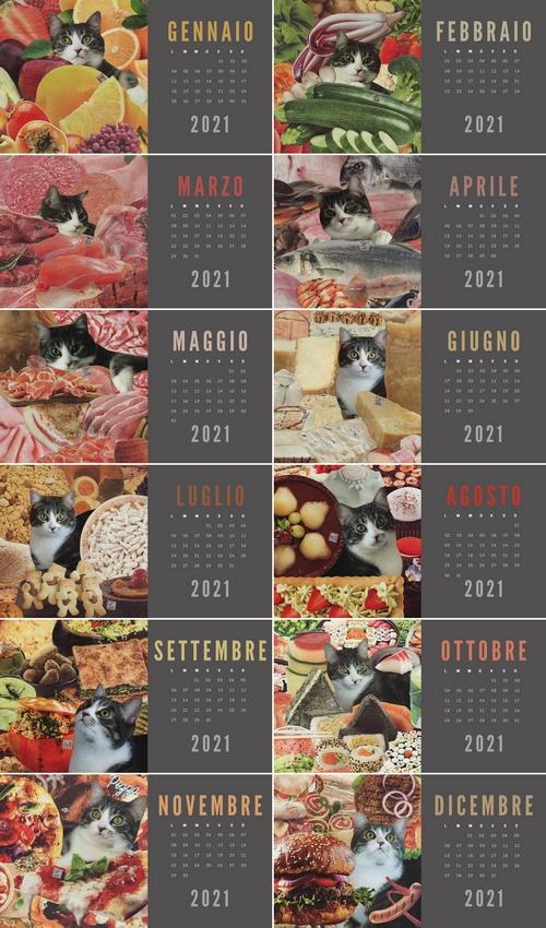 calendario 2021 degattoupage oliver