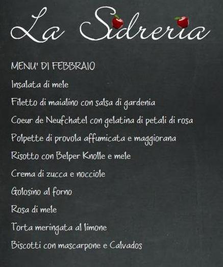 la sidreria menu febbraio 2014