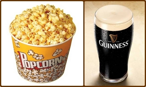 pop corn e birra