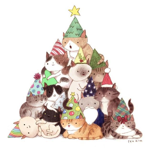 albero natale felino