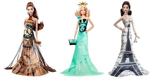 barbie big ben statua liberta tour eiffel