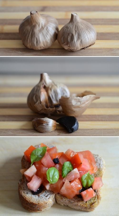 bruschetta aglio nero