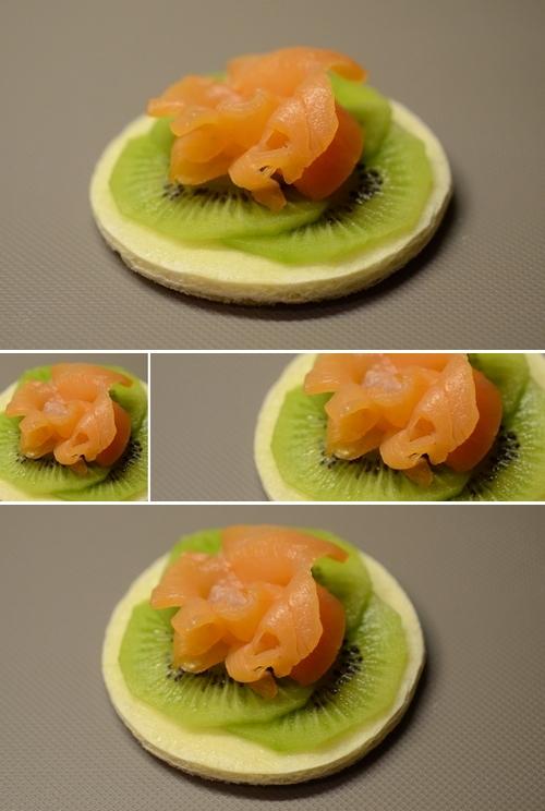 tartine salmone kiwi