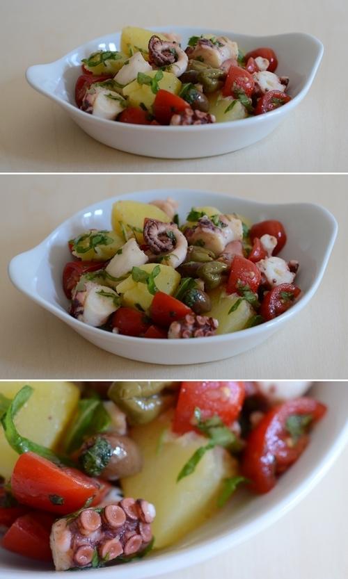 insalata polpo patate pomodorini olive taggiasche