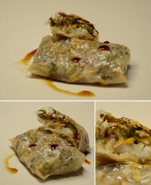 involtini cialde riso insalata germogli surimi