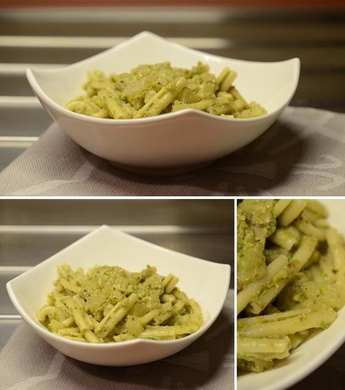 casarecce pesto pistacchi lattuga