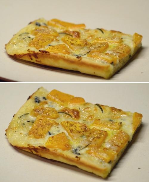 pizza bianca zucca gorgonzola