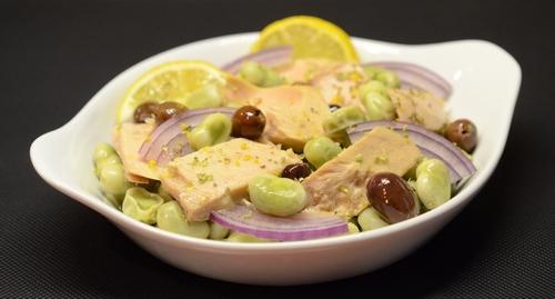 insalata fave filetti tonno