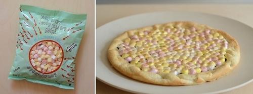 crostata al cioccolato con marshmallow