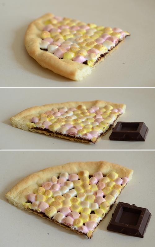 crostata cioccolato fondente marshmallow