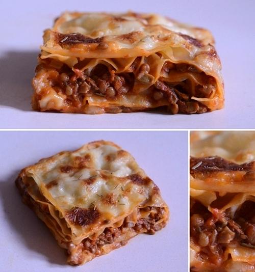 lasagne ragu lenticchie