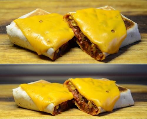 burrito manzo fagioli mais