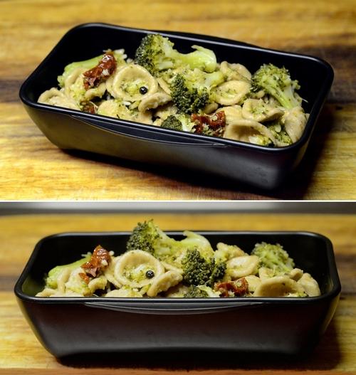 orecchiette grano arso broccoli pomodori secchi