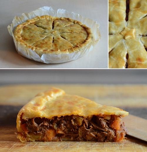 pasticcio carne crosta  meat pie