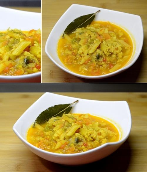 minestra nasello lattuga