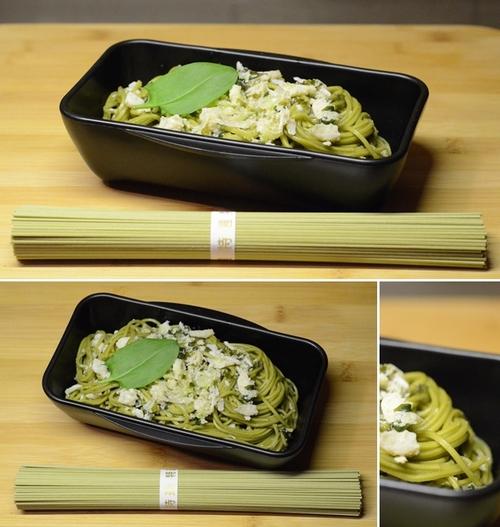 spaghetti te verde polpa granchio