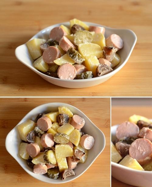 insalata patate wurstel cetrioli cipolline