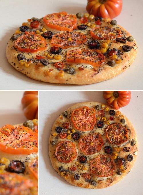 focaccia mosaico pomodori costoluti