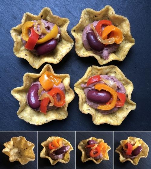 tortilla bowls pate fagioli rossi